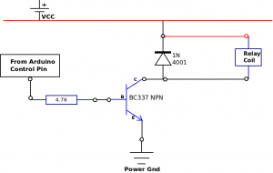 Fig 1: Relay Driver Circuit