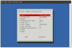 Gammu Configuration Utility Screenshot